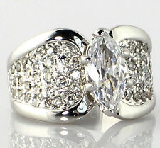 Bridal Wedding Ring - Size 5 Marquise Cut 3.05 Ct. Cubic Zirconia Engagement