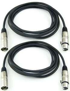 2x 3 m 3 pol Mikrofonkabel XLR male auf female - DMX Mikrofon Kabel Adam Hall