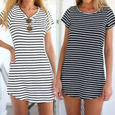 Women Short Sleeve Tunic Top Blouse Club Beach Party Dress Plus Size Sundress