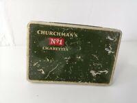 Vintage Churchman's No 1 Cigarettes Tin