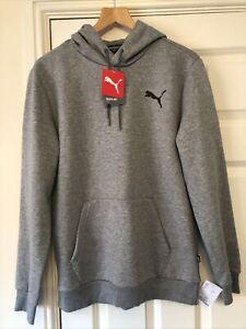 BNWT Mens Puma Grey Hooded Sweatshirt Jumper Size Medium Hoodie Regular Fit