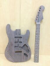 Complete DIY Kit–SC Style Electric Guitar,Loaded Pick Guard,Technical ZebraWood