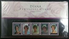 1997 Princess Diana Presentation pack and card insert in Welsh Language Cat £150