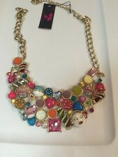 Betsey Johnson xox Trolls Bib Multi Charm Statement Necklace $140
