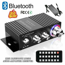 Mini Bluetooth Audio Amplifier Receiver Stereo Power Amp Remote USB Music Player