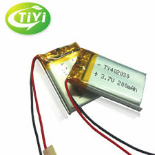 2pcs Genuine 3.7V 200mah Li-ion Rechargeable Battery For Camera MP3/4 Bluetooth