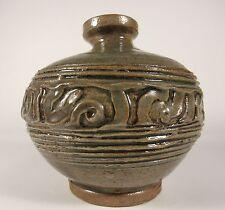 Vintage Signed P. HILL Studio Art Pottery Stoneware Vase