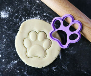 Paw print cookie cutter embosser, Cookie paw embosser, Fondant embosser