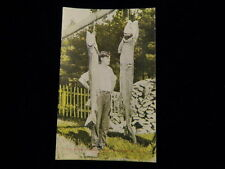 Vintage 1930s -40's 2 Large Sturgeon Postcard Indian River Michigan Post Card A1
