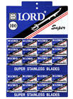 Lord Super Stainless Double Edge Safety Razor Blades 100 Blades