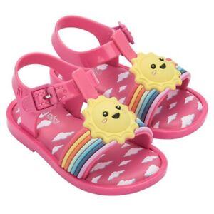 Mini Melissa Girl's Sandals Rainbow Jelly Cloudy Sun Beach Kids US Shoes 7-11