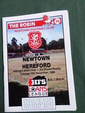 Newtown Teams L-N Football Non-League Fixture Programmes