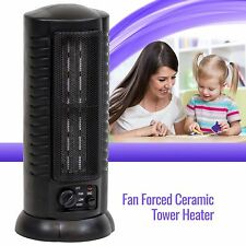 Portable Ceramic Space Heater Tower Electric Oscillating Home Office Room, Black