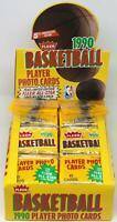 1990-91 Fleer Basketball Rack Pack Box 24 Packs 45 Cards