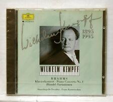 KEMPFF, KONWITSCHNY - BRAHMS piano cto no.1, haendel var. DGG CD STILL SEALED