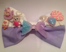 Pastel Púrpura Sweet Lolita Decora Cabello Moño fairy Kei Kawaii goteo fusión