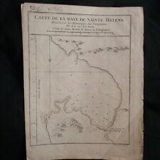 Carte de la Baye de Sainte Hélène dressée sur les remarques des navigateurs