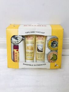 Burts Bees Tips and Toes Kit 6 Piece Set Hand & Foot Cream