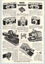 1956 PAPER AD German Reflex Camera DeJur Staeble Katar 45MM Edixa Stereo