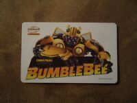 "Landmark Cinemas Canada Bumble Bee Movie Gift Card 2018 ""Card Is Empty"""