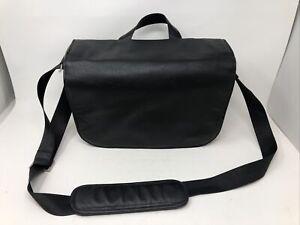 NEW OLYMPUS OM‑D Messenger Leather+Canvas Bag Case BELOW HALF PRICE RRP £129.99