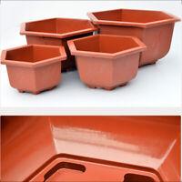 Thickened Hexagon Flower Pot Succulent Planter Bonsai Garden Home Decor Supplies