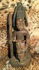 Antique African Equestian Wood Carving from the Yoruba Tribe