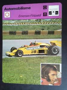 Sheet Editions Rencontre S.A Lausanne Motoring Emerson Fittipaldi