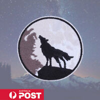 Wolf Howl Embroidered Patch for Embroidery Cloth Patches Badge Iron Sew On