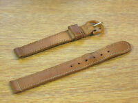 Genuine Buffalo Vintage 14mm Watch Band Tan Brown Made in USA 1950s/60s