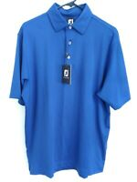 FootJoy FJ Mens Size Medium Blue SMACNA Logo Short Sleeve Active Golf Polo Shirt