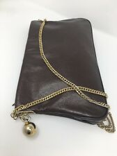 Robert Bestien Leather - Vintage Brown Leather Purse W/ Gold Chain Strap