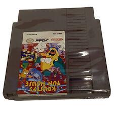 SIMPSONS KRUSTY'S FUN HOUSE Original Nintendo NES Tested Cartridge Only