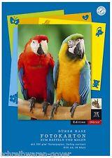 Tonkartonblock Fotokartonblock DIN A4 300g/m² 10 Blatt farbig sortiert