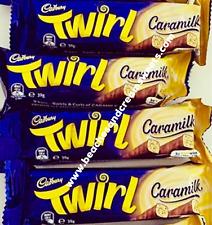FOUR RARE Cadbury Caramilk Twirl Chocolate Australian Import 39g Each Uk Seller