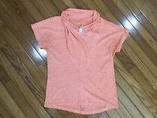 Lucy Activewear Women's Salmon Athletic Workout Top Blouse Size M