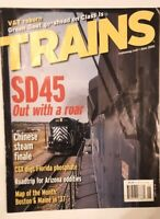 8 LOT TRAINS Magazines, RAILROADING, 2005-2012, A LOT of Color Pics & Train Info