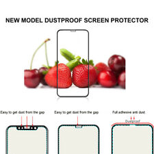 Dustproof 6D iPhone X Full Coverage Tempered Glass Screen Guard Saver for Apple