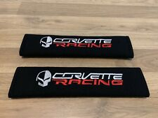 2X Seat Belt Pads Cotton Gift Chevrolet Corvette Racing C7.R C6.R GT Car C 6 7 R