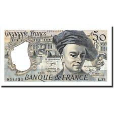Billets, France, 50 Francs, 50 F 1976-1992 ''Quentin de La Tour'', 1983 #211088