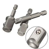 3tlg. 1/2 3/8 1/4 Bohrmaschinen Bohrfutter Adapter Set Bit Stecknuss Nuss Halter