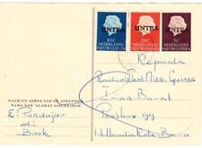 Netherlands New Guinea POSTAL CARD OVERPRINTED-UNTEA-uprated Sc#11a