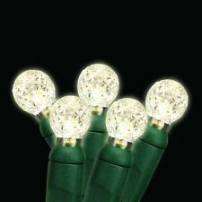 G12 LED Green Wire Steady Christmas Holiday Lights - Warm White - 25' total
