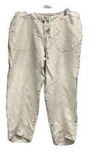 Lane Bryant Womens Capri Pants Beige Drawstring Pockets High Rise Plus 18/20