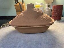 Vintage 1984 Avon Gallery Originals Terra Cotta Farm Clay Dutch Oven Baking Dish