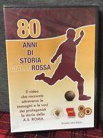 80 Anni Di Storia GialloRossa DVD Edit. Nuovo A.S. Roma Calcio AS Giallo Rossa
