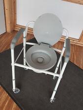 Toilettenstuhl mit Rädern   Höhenverstellbar   Extra breit