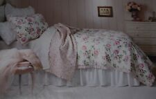 Rachel Ashwell Simply Shabby Chic PINK Cottage GARDEN ROSE TWIN QUILT Sham Set