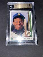 1989 Upper Deck #1 Ken Griffey Jr. Rookie Card RC BGS 9.5 Gem Mint