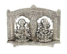 Laxmi Ganesh Frame Chocki Silver Plated Pujan And Home Décor